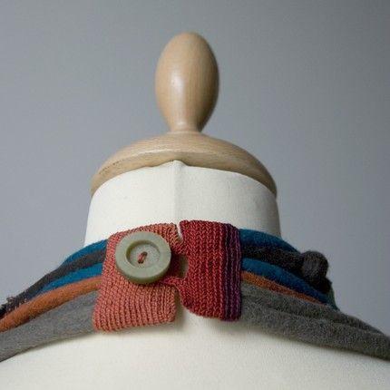 ottima idea per chiusura, in genere, per collane in stoffa