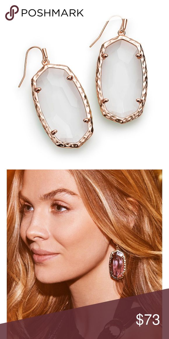 "NWT Kendra Scott Rose Gold White Ella Earrings NEW WITH TAGS Kendra Scott BRAND NEW STYLE earrings. They are currently sold out online since they are such a new and desired style! They are originally $75 and in perfect new condition. I listed a second photo on the model but the pair I am selling is white, ""clear crystal."" Message me if interested! Kendra Scott Jewelry Earrings"