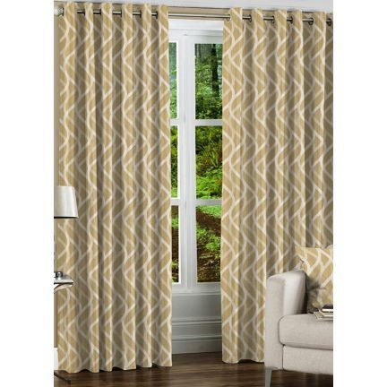 Fflaunt Grace Light Brown Eyelet Curtain - Add oodles of style to your home with an exciting range of designer furniture, furnishings, decor items and kitchenware. We promise to deliver best quality products at best prices.