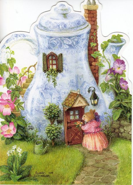 Susan Wheeler: Holly Pond Hill...........Along with Beatrix Potter, my favorite fantasy world and characters. Love Susan's work.