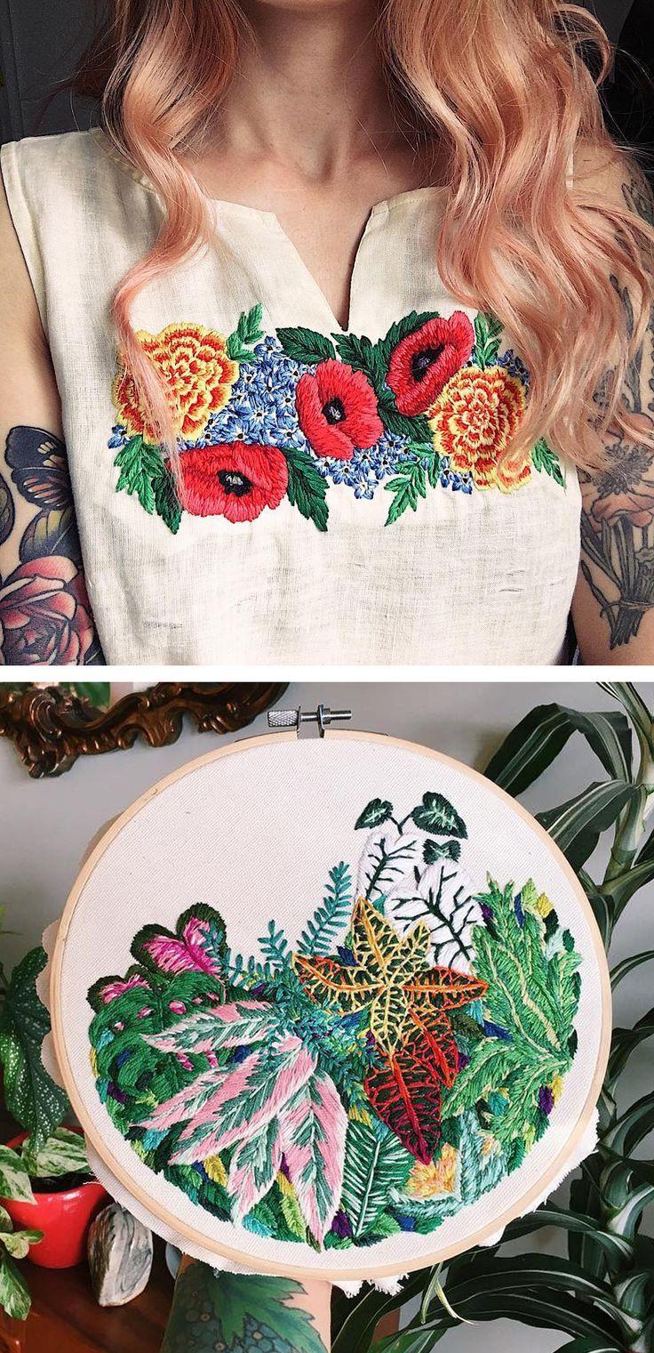 Hoop art by Sam Eldridge // embroidery // modern embroidery