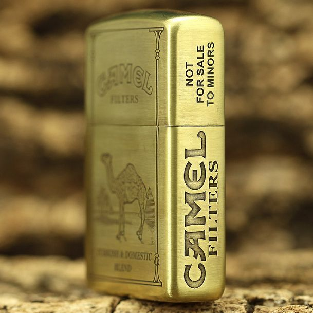 Etching Brass Armor 5 Side Camel Zippo Lighter Limited Edition