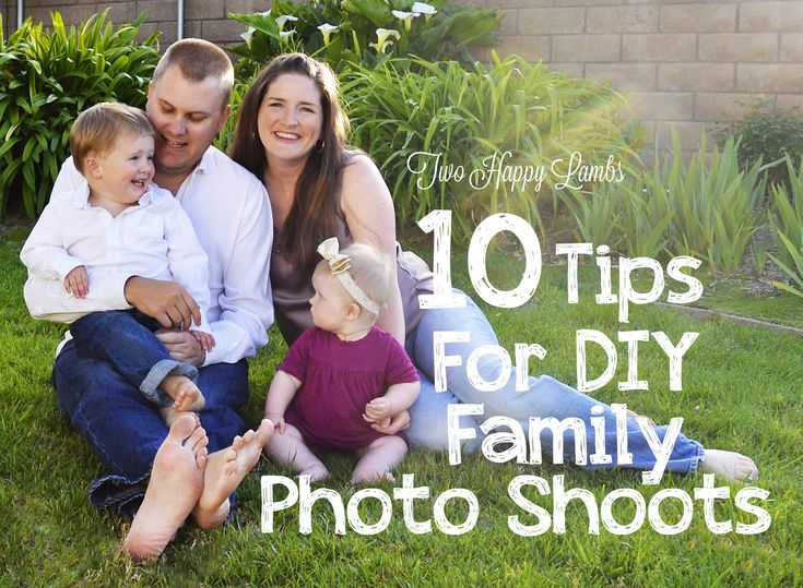 10 tips for diy family photo shoots photography for Creative family photo shoots