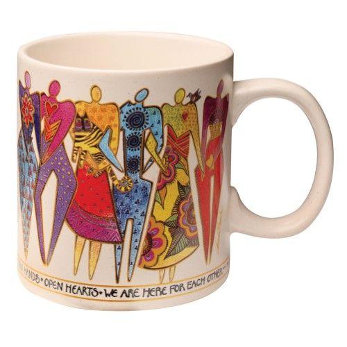 Laurel Burch Join Hands Mug - Women in Solidarity Coffee Cup - Ceramic
