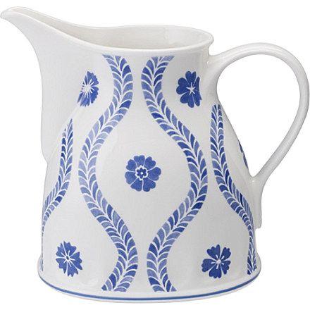 VILLEROY & BOCH Farmhouse Touch Blueflowers milk jug from Selfridges