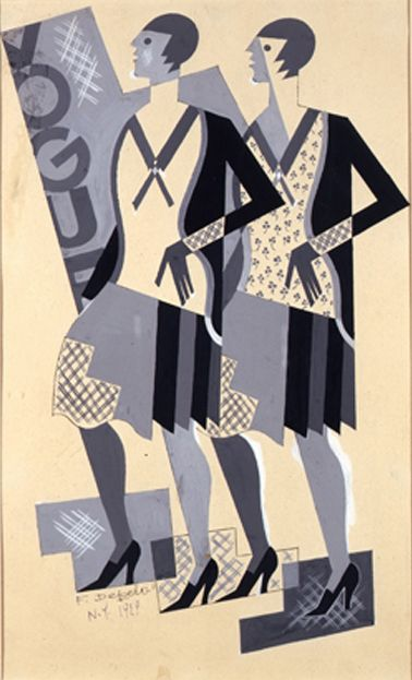 Study for Vogue cover — Fortunato Depero (1922)