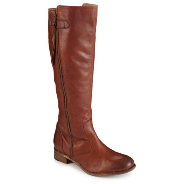 Cool weather calls for the easy refinement of the Rue women's riding boot from Diba® $130 COLOR: BROWN