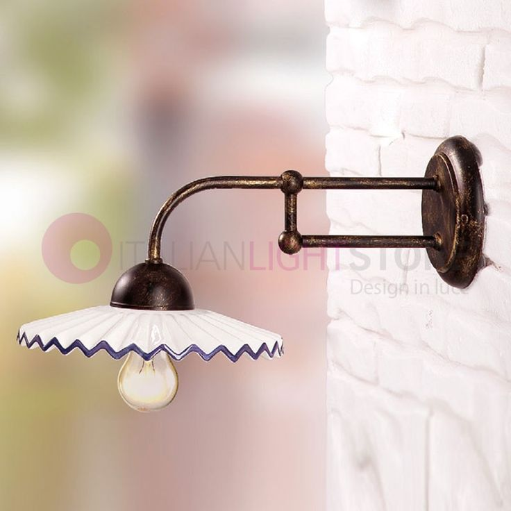 Lampada da muro ceramica stile rustico Lampade, Ceramica