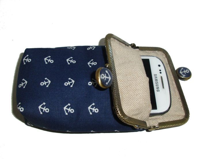 Joisys® Bügeltasche Smartphone Case *Maritim Anker von Joisys auf Etsy