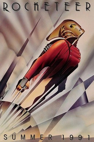 Rocket man in an Art Deco poster...check the films