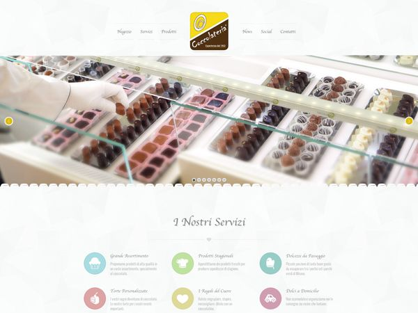 immagine homepage nuovo sito Coccolateria by Holbein & Partners web agency.