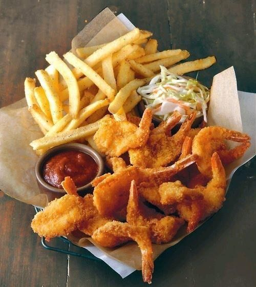 Image via We Heart It #chips #food #fries #ketchup #nuggets #salad #foodporn #chickenwings
