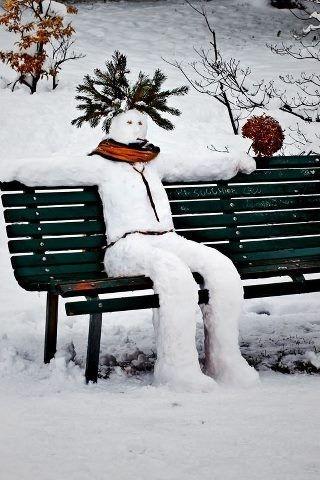 Cool snowman :)