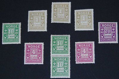 Stamp Pickers Norway BOB 1889-1923 Postage Dues MNH MH Lot $71+