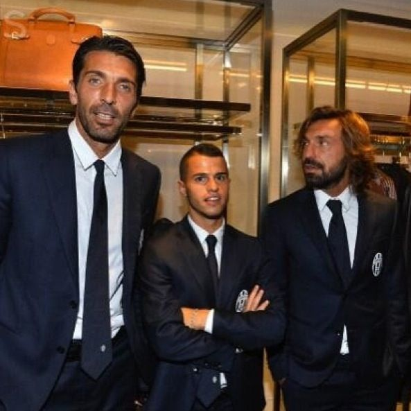 Buffon, Andrea Pirlo and giovinco  Juventus
