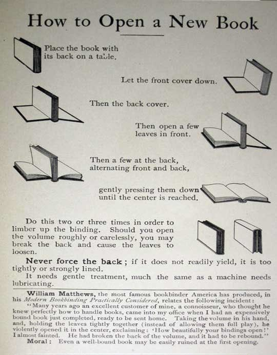 Break In a Hardcover Book (Without Ruining the Spine) • works with paperbacks, too, just be gentle ;)