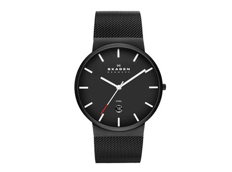 "#Skagen ""White Label"" men's slim design dress watch.Ultra slim, minimalist Danish design and a 'signature' #mesh band, these elements of design are now the instantly recognisable design DNA of Skagen ""White label"" collection. 