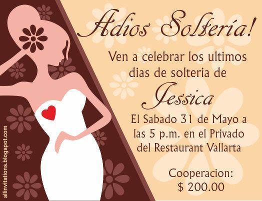 Invitación despedida de soltera novia con corazón rojo