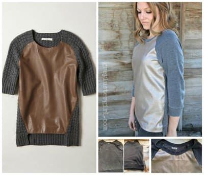 Transforma un viejo suéter en un pulóver de cuero a la moda. Este tutorial te muestra cómo hacerlo.