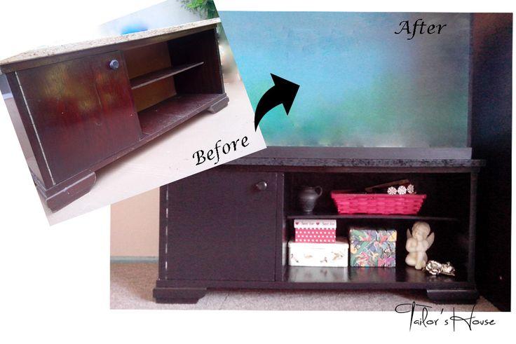 Reconditionare mobilier pentru acvariu before & after