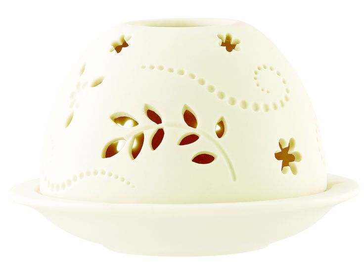 Flower Dome Votive with Battery Candle 11.5 x 7.5cm - Belleek. €18.00