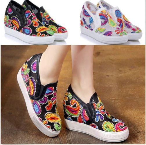 Womens Shoes Breathable Mesh Sneakers Wedge Hidden Sport Sandals Boots Plus Sz