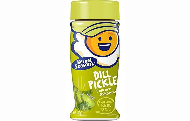 Kernel Season's Dill Pickle Popcorn Seasoning http://www.prevention.com/food/15-healthy-popcorn-snacks/slide/2
