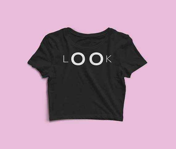 Look Women's Crop Top - Valentines Day Gift - Gift For Her - Ladies Crop Tees - Girls Summer Tank Tops - Gym, Yoga Shirt - Valentines Day. Wear it proudly. Spread the Word. Make a Statement.  The season's trendiest garment - the crop top. This top is tight-fitting and hits just above the navel.