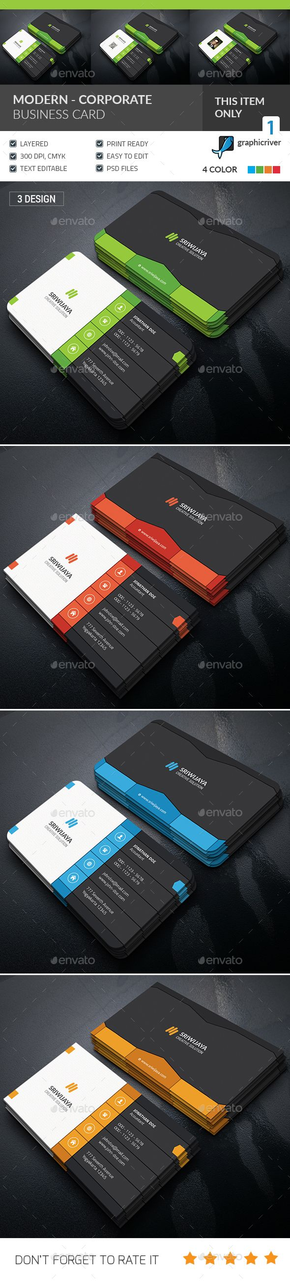 Modern Corporate Business Card Template PSD. Download here: http://graphicriver.net/item/modern-corporate-business-card-/15987101?ref=ksioks