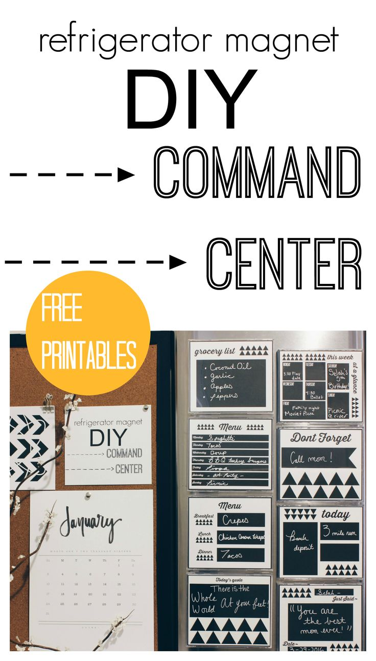 DIY Command Center that is super easy & cheap to make using old Cd Cases and bistro chalk markers. Free printables are included to help get you organized!