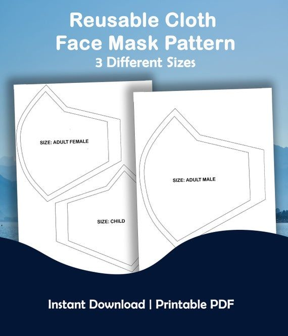 5 Pieces Face Covering Sewing Templates Face Protector Plastic Sewing Pattern Template Reusable DIY Sewing Template Kit for Children Adults 4 Sizes