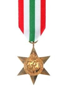 The Italy Star obverse view