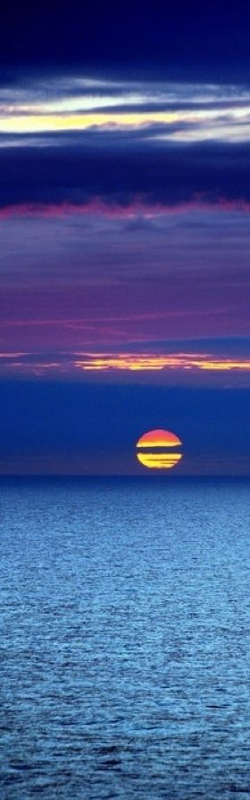 North Sea sunset in the Netherlands • original source not found