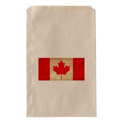 #Original Vintage Patriotic National Flag of CANADA Favor Bag - cyo customize do it yourself diy
