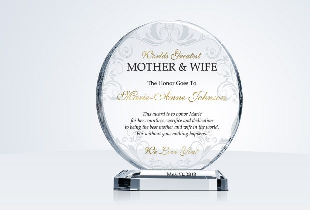 Best Wife Mother Award Plaque Personalized Mother S Day Gifts