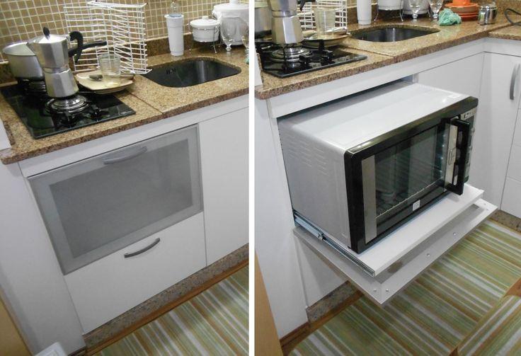 Forno embutido cozinhas pinterest forno embutido for Mesa para microondas