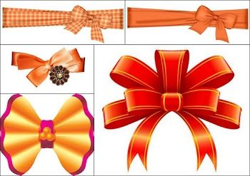 Orange Bows for your Quinceanera.