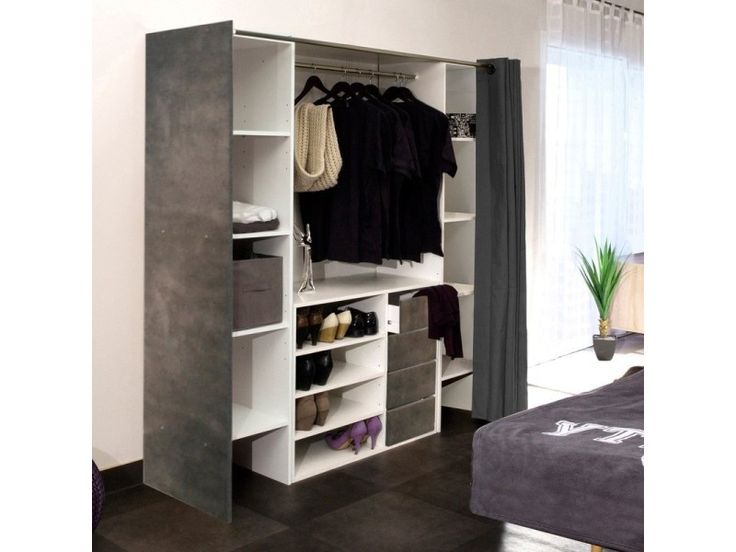 les 25 meilleures id es de la cat gorie dressing avec rideau sur pinterest d coration de salle. Black Bedroom Furniture Sets. Home Design Ideas