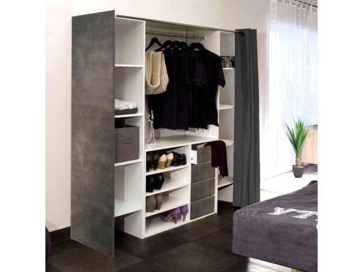 les 25 meilleures id es de la cat gorie dressing avec rideau sur pinterest d coration de salle. Black Bedroom Furniture Sets. Home Design Ideas