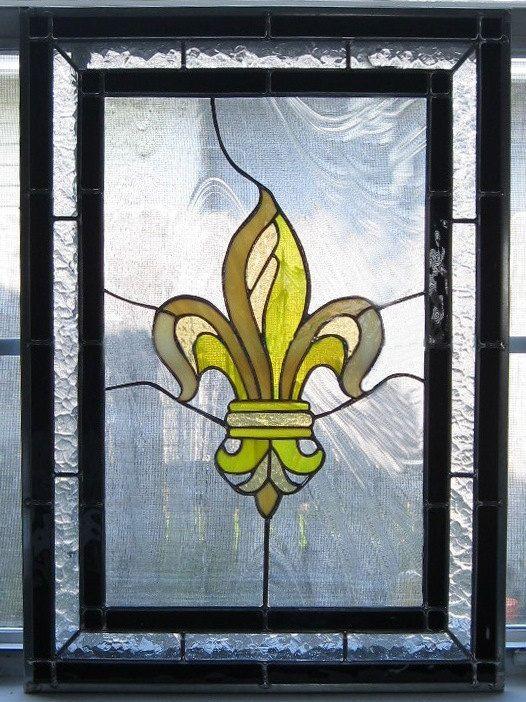 40 Best Images About Stained Glass Fleur De Lis On Pinterest