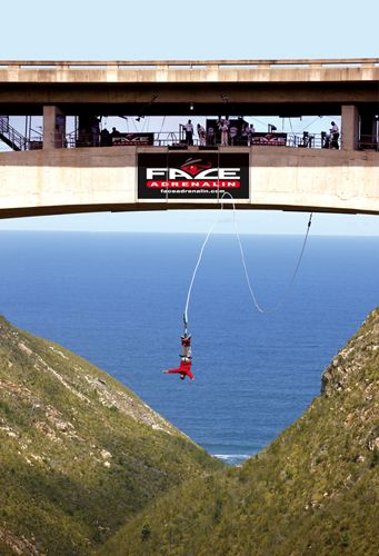 The Bloukrans Bridge Bungee Jump, The Highest In The World, South Africa