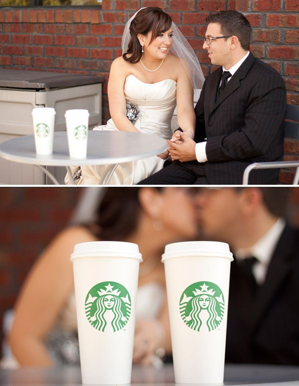 "Maybe they met at Starbucks??? I like the idea of taking a photo at ""ground zero"". :)"