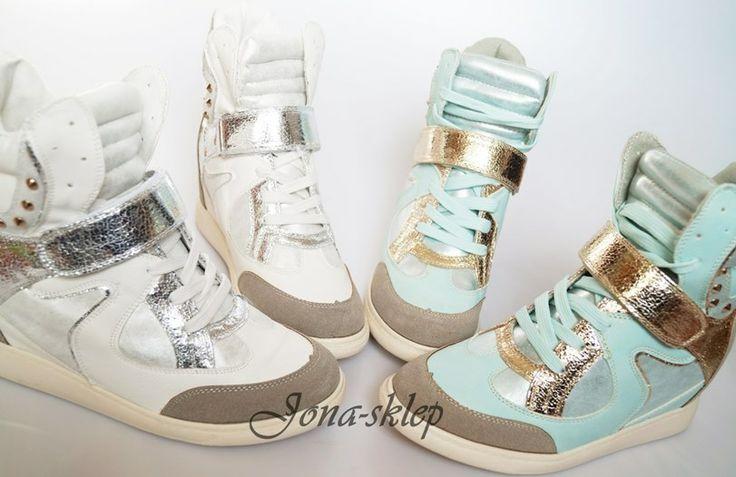 Mint and White sneakers Wiosna 2013 stylowe sneakersy złoto