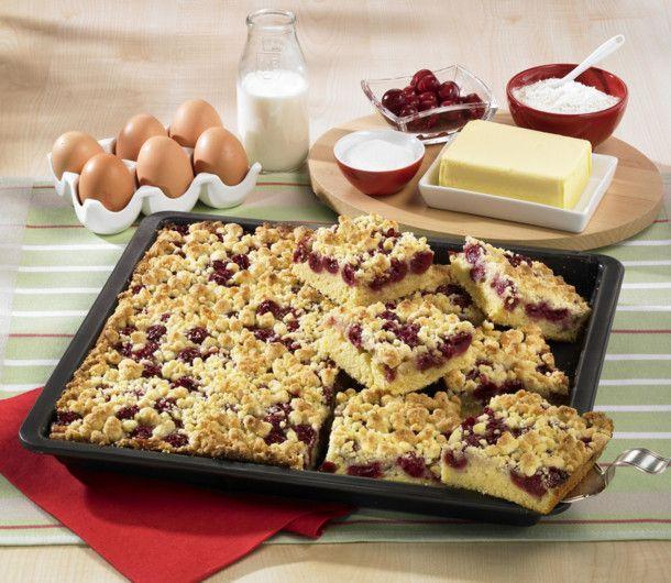 Unser beliebtes Rezept für Kirsch-Streuselkuchen vom Blech und mehr als 55.000 weitere kostenlose Rezepte auf LECKER.de.