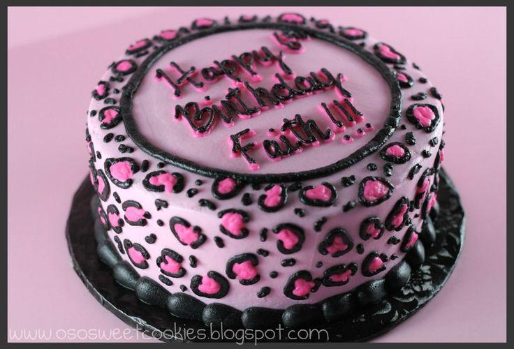 cheetah themed cakes | So Sweet Cookies: Pink Cheetah Print Cake!