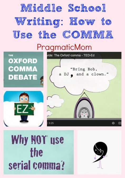 Middle School Writing: How to Use the COMMA rules and an app to practice :: PragmaticMom