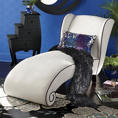 Awesome Claudette Curved Lounge Chair From Midnight Velvet. A Comfortable Spot For  Napping Or Loungingu2014or Go Ahead And Faint, This Chair Will Catch You.