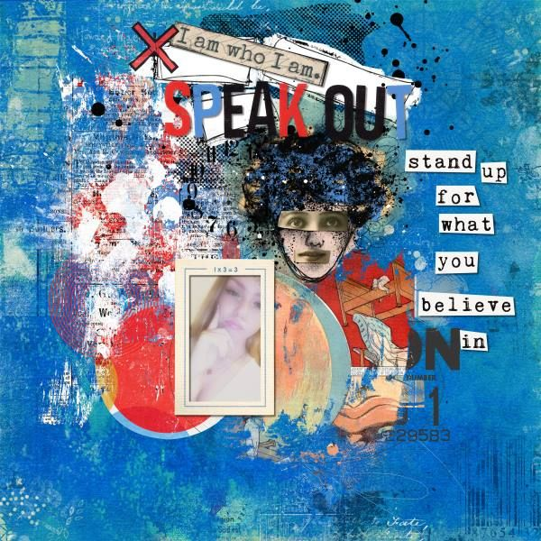Speak Out - Credtis: Credits: Mixed-Media-Monthly-July-15-main-kit, Comic-Strip-Overlays-Add-On-M3-July by Sissy Sparrows and Elements-add-on-M3-July-2015 by Little Butterfly Wings.