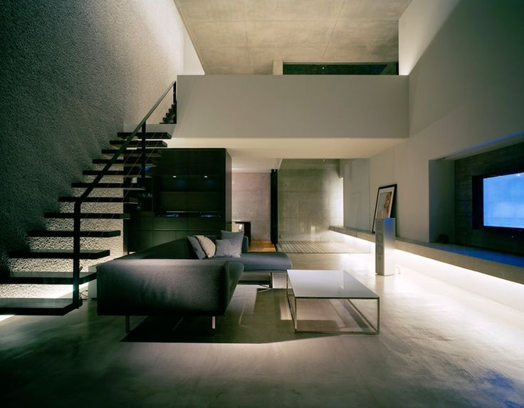 cool modern house interior design. Architecture  Cool Modern Mejiro House By MDS Architectural Studio In Tokyo Featuring Interior Design With Living Room Furniture Black Staircase And Sofa 365 best Elements images on Pinterest