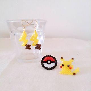 Check rica4413's Instagram #アイロンビーズ #ポケモン #ハンドメイド #アクセサリー #pokemonart #pokemongo #pokemon #pikachu #pixelart #perlerbeads #hamabeads #handmade #gameart #nintendo 1350302378519661102_471913286